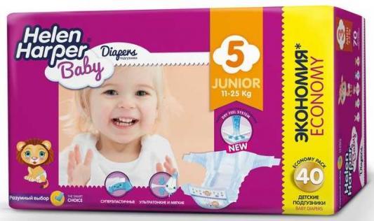 Купить Подгузники Helen Harper Baby размер 5 Junior (11-25 кг) 40 шт., влагопоглощающий, Подгузники и трусики подгузники