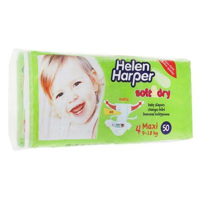 Купить Подгузники Helen Harper Soft Dry maxi (9-18 кг) 50 шт., влагопоглощающий, Подгузники и трусики подгузники