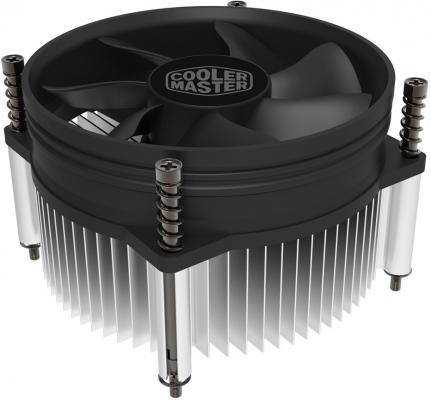 Cooler Master CPU Cooler RH-I50-20FK-R1, Intel 115*, 84W, Al, 3pin 12v 3pin 120mmx120mmx25mm silen t computer cpu cooler small cooling fan pc black heat sink