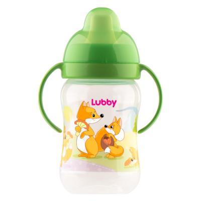 Купить Поильник-непроливайка Lubby Веселые животные с твердым носиком от 6 месяцев 250 мл, разноцветный, для мальчика, для девочки, Поильники