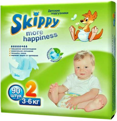 Подгузники Skippy More Happiness 7012 размер 2 (3-6 кг) 90 шт подгузники skippy подгузники econom р 3 4 9 кг 56 шт