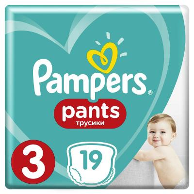 Трусики Pampers Pants 3 (6-11 кг) 19 шт pampers трусики pampers pants 6 11кг размер 3 60 шт pampers