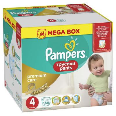 Трусики Pampers Premium Care Pants 4 (8-14 кг) 66 шт pampers трусики pampers pants 9 14кг размер 4 16 шт