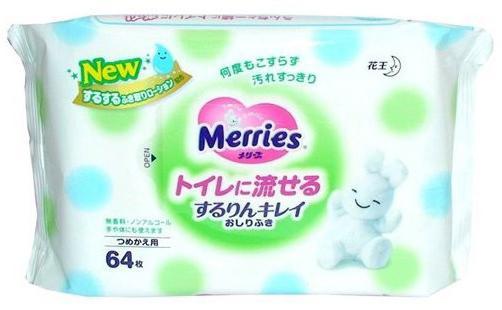 Салфетки влажные Merries 4901301-239983 детские 64 шт merries детские влажные салфетки merries 54 шт пластиковый контейнер