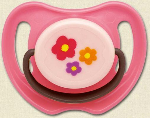 Пустышка ортодонтическая PIGEON Цветочек от 6 месяцев силикон розовый 4902508-133012 hevea пустышка ортодонтическая car от 3 месяцев
