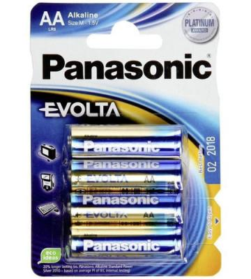Батарейки Panasonic/ AA EVOLTA (блистер 4шт.) батарейки philips r6l4b 10 aa 4шт