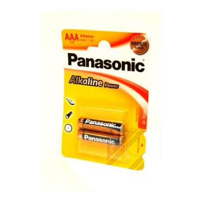 Батарейки Panasonic/ AAA Alkaline Power (блистер 2 шт.) ag8 lr55 1 55v alkaline cell button batteries 10 piece pack