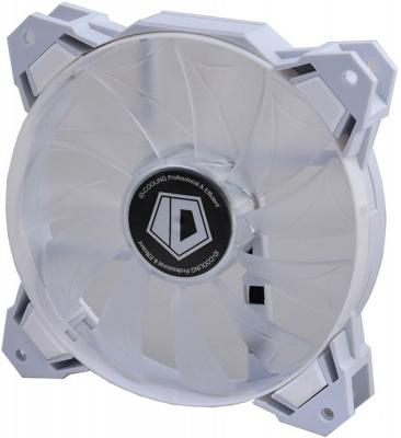 Case Fan ID-Cooling SF-12025-W White LED / PWM / White frame [ID-FAN-SF-12025-W] globen глобус земли физический диаметр 210 мм ке012100176