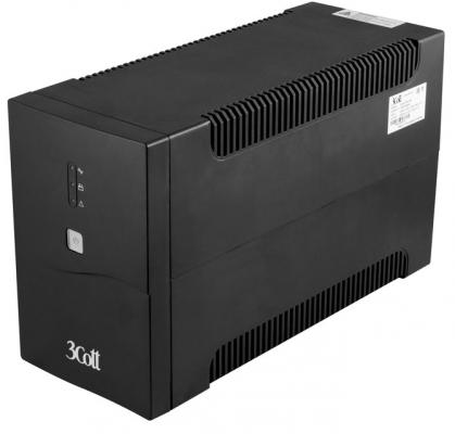 3Cott ИБП 3Cott-1500-CNL Connect Line 1500VA/900W USB,AVR,RJ11,RJ45 (4 Euro+2 IEC) {0509786} ибп powercom imp 2000ap imperial 2000va 1200w usb avr rj11 rj45 4 2 iec