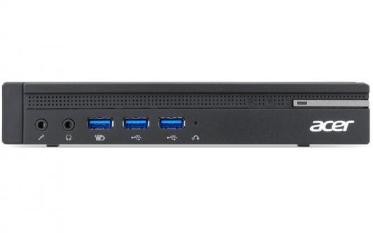 Неттоп Acer Veriton N4640G (DT.VQ0ER.080) i5-7500T (2.7) / 8GB / 256GB SSD / Int: Intel HD 630 / WiFi / BT / Win10 Pro (Black) acer veriton ves2710g [dt vqeer 036] mt i5 7400 8gb 256gb ssd w10pro