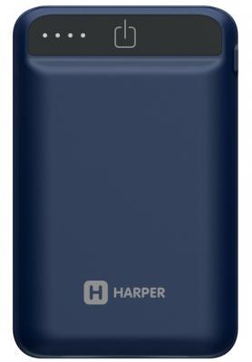 Внешний аккумулятор Power Bank 12000 мАч Harper PB-2612 синий harper wpb 008 black внешний аккумулятор 8000 мач
