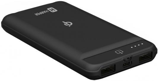 Внешний аккумулятор Power Bank 8000 мАч Harper WPB-008 черный цены онлайн