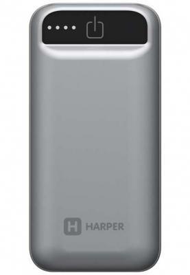 Фото - Внешний аккумулятор HARPER PB-2605 Grey внешний аккумулятор для портативных устройств hiper circle 500 blue circle500blue