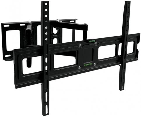 Кронштейн Tuarex OLIMP-606 black, настенный для TV 26-65, поворот 120, наклон +10-12, от стены 66-436мм, макс 45кг, VESA 600x400