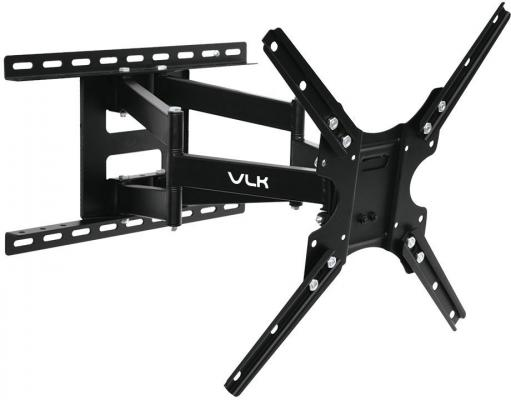 Кронштейн VLK TRENTO-8 черный 26-65 наклонно-поворотный от стены 55-480мм VESA 400х400мм до 30кг