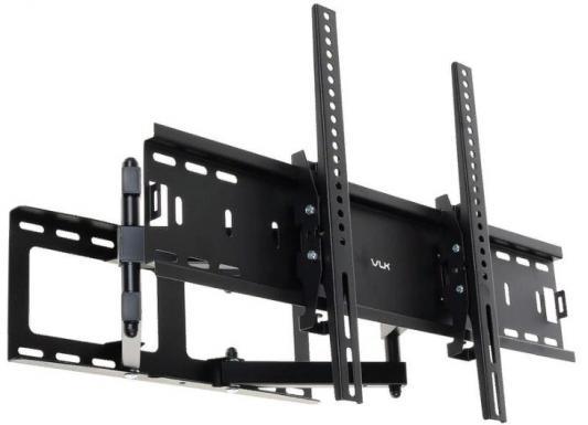 Фото - Кронштейн VLK TRENTO-9 черный 32-90 наклонно-поворотный от стены 90-500мм VESA 600х400мм до 50кг подставка для телевизора vlk trento 92 макс 10кг черный
