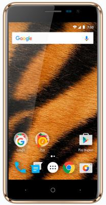 Смартфон Vertex Impress Tiger 4G 8 Гб золотистый сотовый телефон vertex impress tor black orange