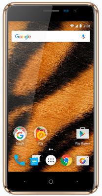 Смартфон Vertex Impress Tiger 4G 8 Гб золотистый смартфон vertex impress ra 4g 8 гб графит ra grft