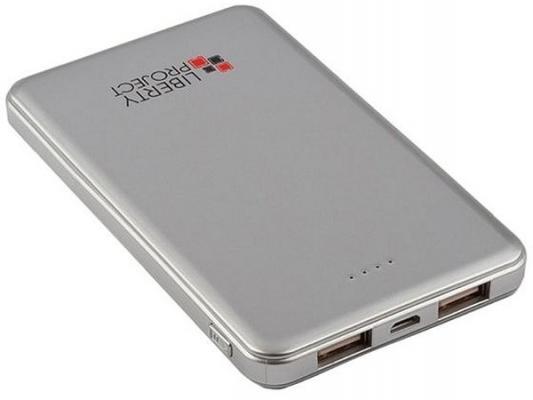 Фото - Внешний аккумулятор Power Bank 5000 мАч LP 0L-00002279 серебристый внешний аккумулятор для