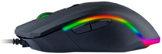 Мышь проводная Qcyber 3360 чёрный USB гарнитура qcyber roof black red звук 7 1 2 2m usb
