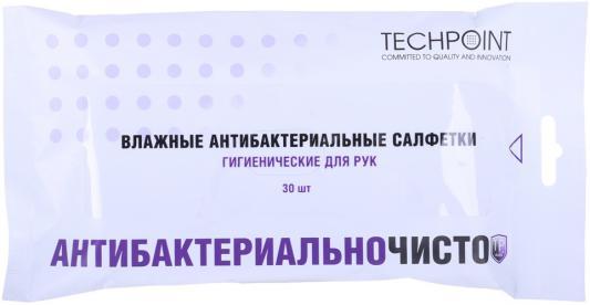 Антибактериальные влажные салфетки для автомобиля (для рук. Чистит масла и автогрязь). 30шт. TechPoint 9014 кл влажные салфетки антибактериальные 15шт 30шт 953016