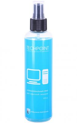 Антибактериальный спрей для ухода за компьютерной техникой (для экранов). 200 мл. TechPoint 5003 чистящие средство techpoint 2001 комплект для очистки фото видеотехники микрофибра спрей