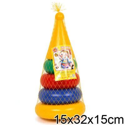 Пирамида Пластмасса-Детство (СВСД) Конус 32 см 5 элементов все цены