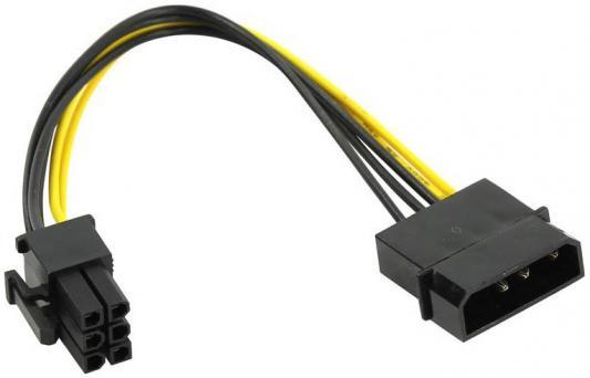 Фото - Переходник питания для PCI-Ex видеокарт Molex 4pin (M) -) 6pin ORIENT C511 переходник