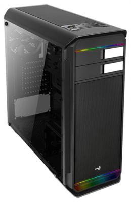 Корпус ATX Aerocool Aero-500G RGB Без БП чёрный (4710700957783) цена и фото