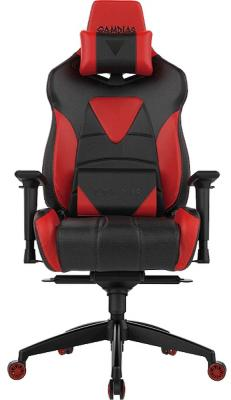Кресло геймерское GAMDIAS HERCULES M1 L black-red hercules series black ladder back metal restaurant chair with black vinyl seat