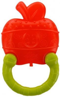 Купить Прорезыватель Bright Starts Колечко Яблоко, разноцветный, пластик, силикон, унисекс, Прорезыватели
