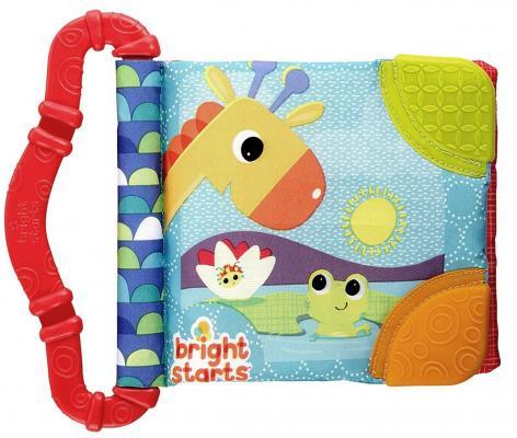 Купить Книжка-прорезыватель Bright Starts Весёлые зверюшки красный с 3 месяцев мягкий, текстиль, пластик, для девочки, Прорезыватели