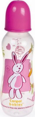 Бутылочка Canpol PP (BPA 0%) с сил. соской, 12+ мес., 330 мл. арт. 59/205prz цвет розовый