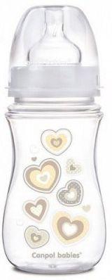 Купить Бутылочка Canpol EasyStart Newborn baby PP, шир. горл., антикол., 240 мл, 3+, арт. 35/217, белый, для мальчика, для девочки, Бутылочки для кормления
