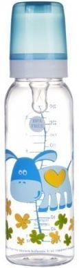 Купить Бутылочка Canpol Cheerful animals тританов., сил. соска, 250 мл, 12+, арт. 11/841prz, ослик, синий, для мальчика, Бутылочки для кормления