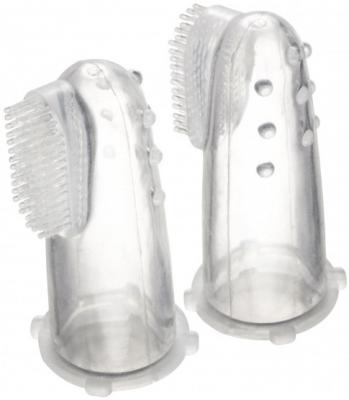 Зубная щетка первая силиконовая с массажными выступами, в контейнере Canpol арт. 56/159