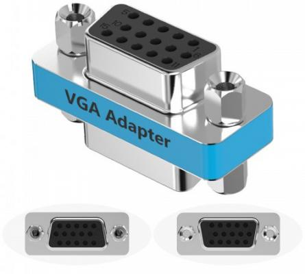 Адаптер переходник Vention VGA 15 F/ VGA 15 F DDCI0 адаптер переходник vention hdmi 19 f 19 f h 380 hdff