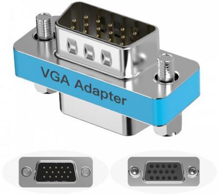 Адаптер переходник Vention VGA 15 F/ VGA 15 F DDAI0 адаптер переходник vention hdmi 19 f 19 f h 380 hdff