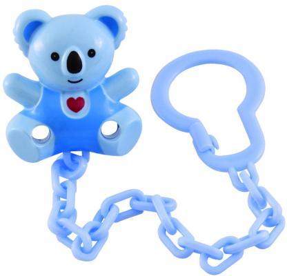 """Клипса-держатель Canpol babies """"Медвежонок с сердечком"""" с рождения голубой"""