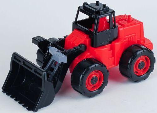 Трактор-погрузчик Полесье ГЕРАКЛ красный 22370 полесье набор машинок самосвал volvo с полуприцепом трактор погрузчик цвет синий красный черный