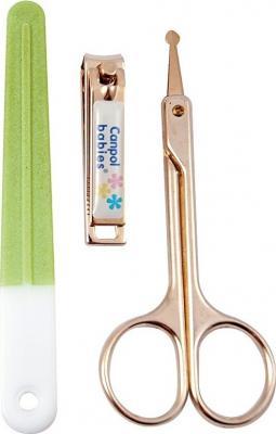 Маникюрный набор Canpol ножницы, щипчики, пилочка арт. 9/809, 0+ мес., цвет зеленый