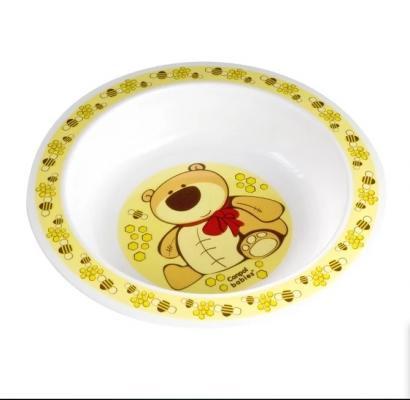 Миска пластиковая Canpol арт. 4/412, 12+ мес., цвет желтый
