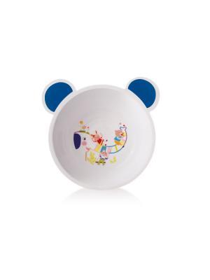 Миска пластиковая с ушками Canpol арт. 4/415, 4+ мес., цвет синий