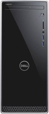 ПК Dell Inspiron 3670 MT i7 8700 (3.2)/8Gb/1Tb 7.2k/SSD128Gb/GTX1050Ti 4Gb/DVDRW/Linux/GbitEth/WiFi/460W/клавиатура/мышь/серебристый/черный
