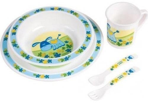 Набор для кормления Canpol Набор обеденный пластиковый арт. 4/401 5 шт голубой от 1 года