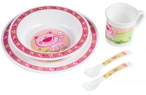 Набор для кормления Canpol Набор обеденный пластиковый арт. 4/401 5 шт розовый от 1 года