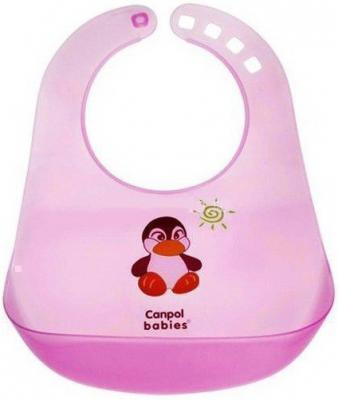Нагрудник пластиковый Canpol арт. 2/404 цвет розовый