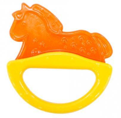 Купить Погремушка с эластичным прорезывателем Canpol арт. 13/107, 0+ мес., цвет желтый, форма лошадка, унисекс, Погремушки и прорезыватели
