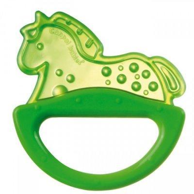 Купить Погремушка с эластичным прорезывателем Canpol арт. 13/107, 0+ мес., цвет зеленый, форма лошадка, унисекс, Погремушки и прорезыватели