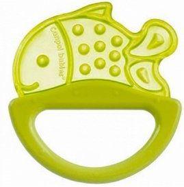 Погремушка с эластичным прорезывателем Canpol арт. 13/107, 0+ мес., цвет желтый, форма рыбка canpol babies погремушка рыбка с прорезывателем оранжевый желтый